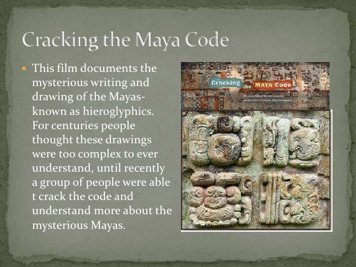 cracking the myan code