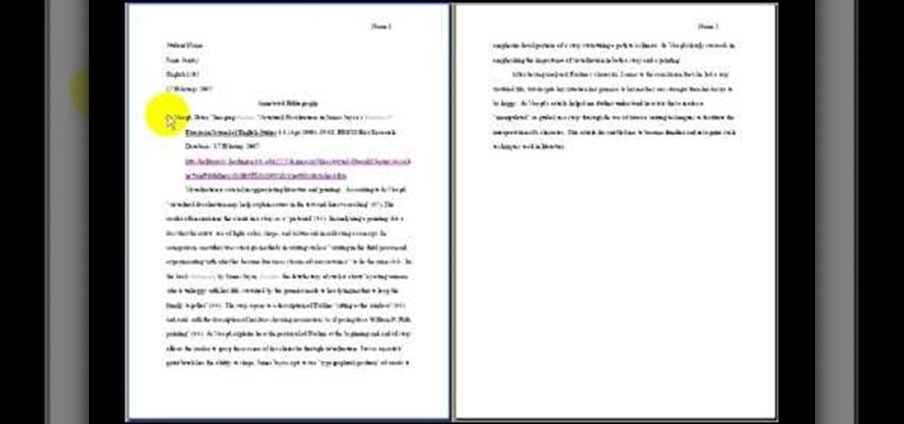 Annotated Bibliography Paper Example