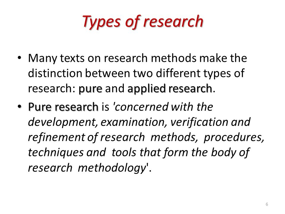Types of research methodology