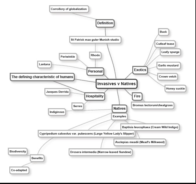 writing essay using mind map