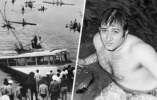 45летподвигу спортсмена-подводника наЕреванском водохранилище