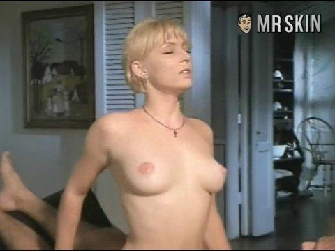 Billowing satin blouse fetish david