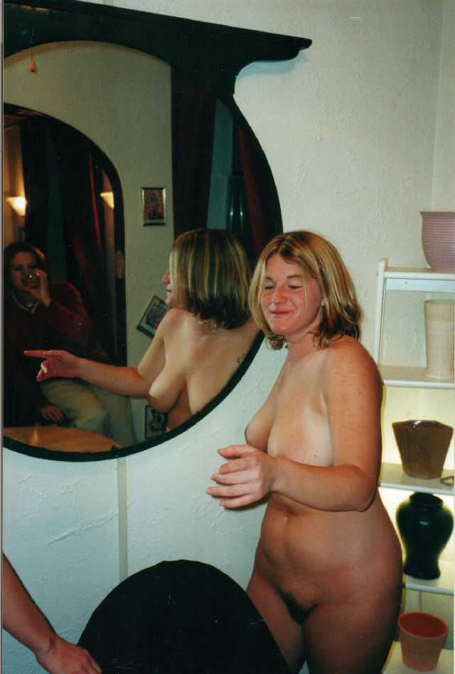 Wife nude in front of friends