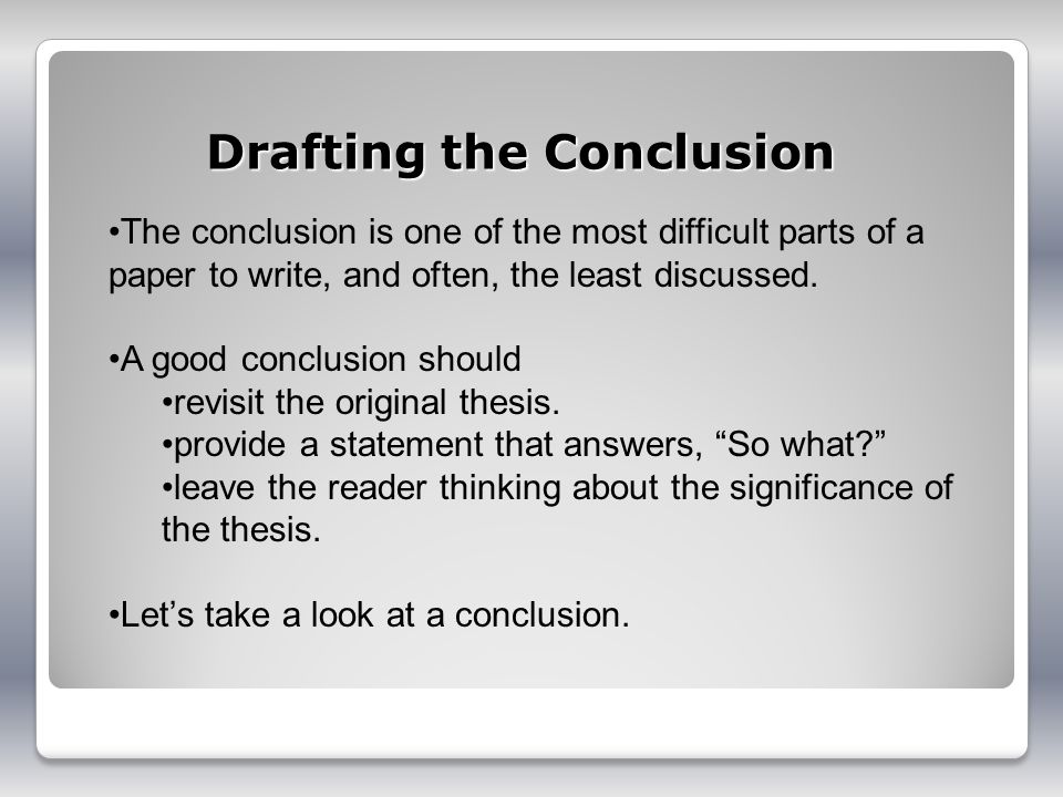 Write my examples of conclusions for an essay