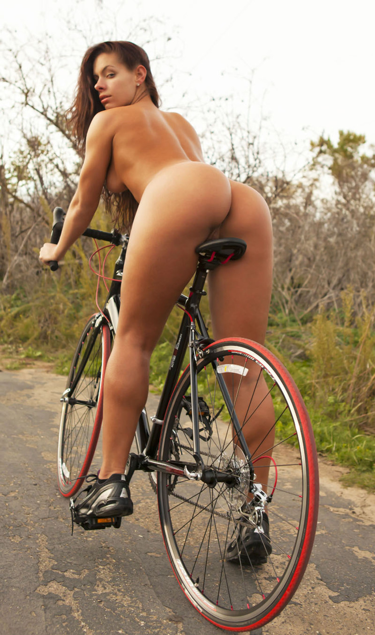 Girls bicycles nude on