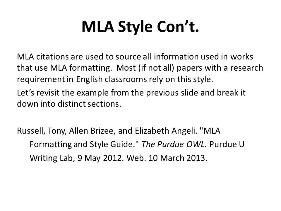 The MLA Essay Format : its Proper Use