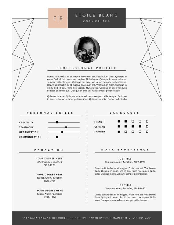 Best 25+ Modern resume template ideas on Pinterest Modern resume - one page resume template word