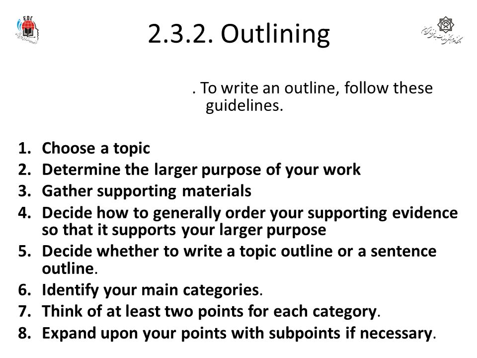 Write my creating an outline for an essay