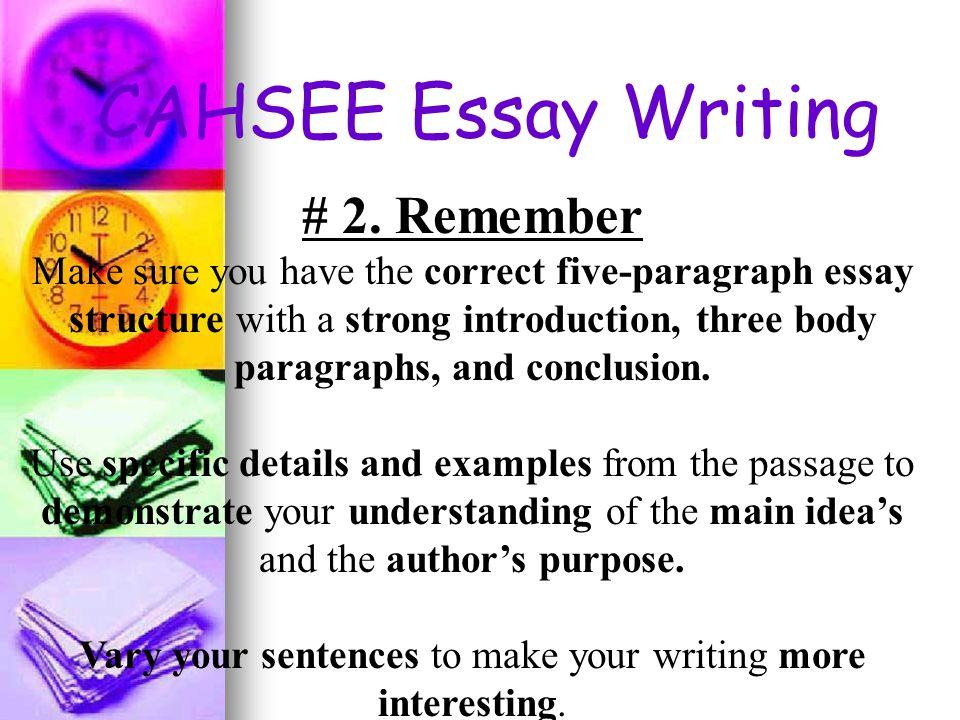 CASHEE Persuasive Essay - ESUHSD