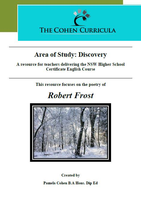 Robert frost research paper