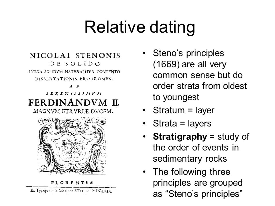 Relative dating methods in geology