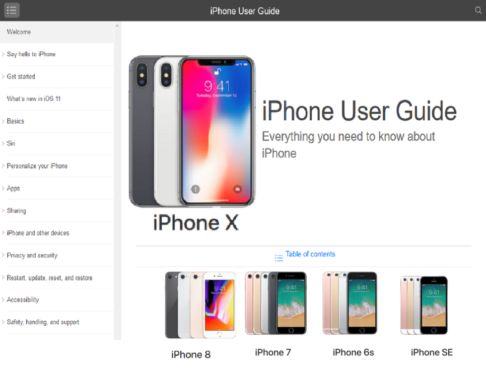 Phone 7 User Guide PDF for iOS 11