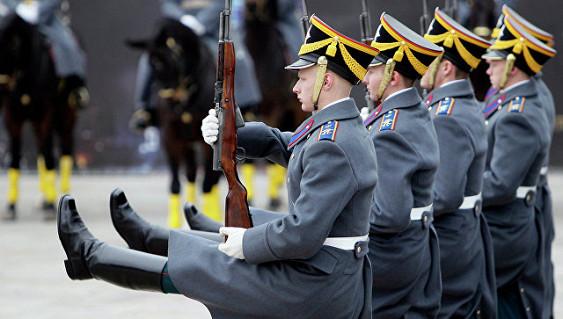 В столицеРФ состоялась заключительная церемония развода караулов