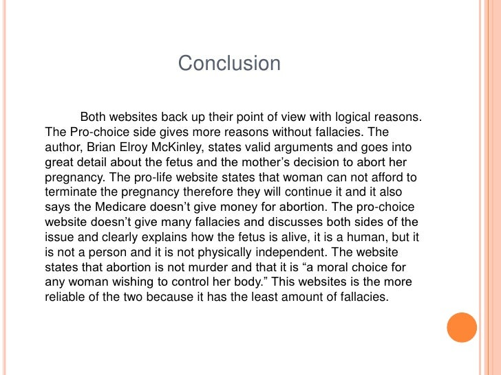 Write my conclusion of abortion essay