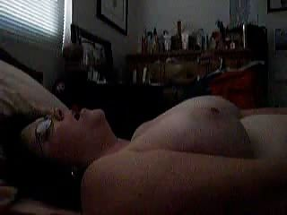 Foot sniffing with handjob
