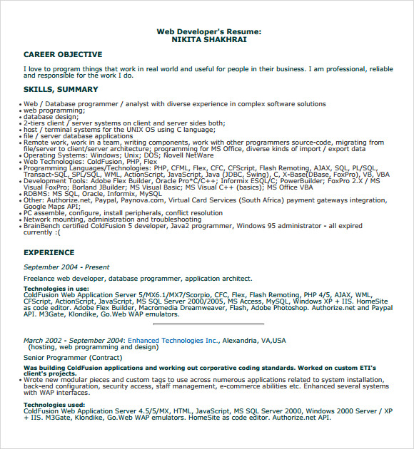 sample programmer resume cover letter good computers resume qhtypm sample computer science entry level xsample resume computer programmer medium cover
