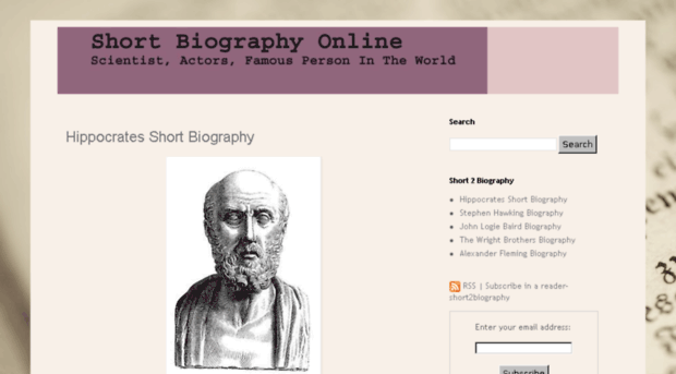 Biography of famous people for kids