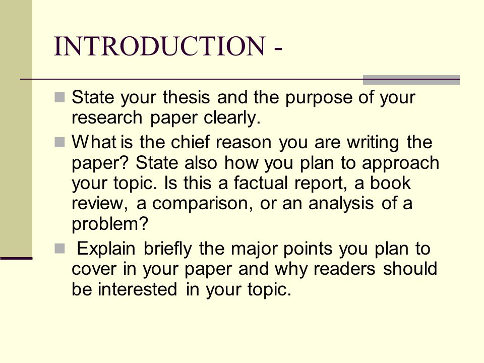 Write my introduction thesis paper