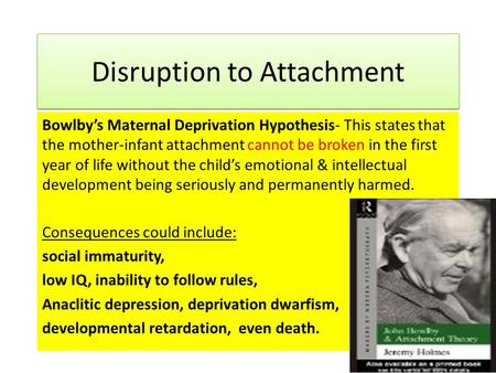 Maternal deprivation hypothesis
