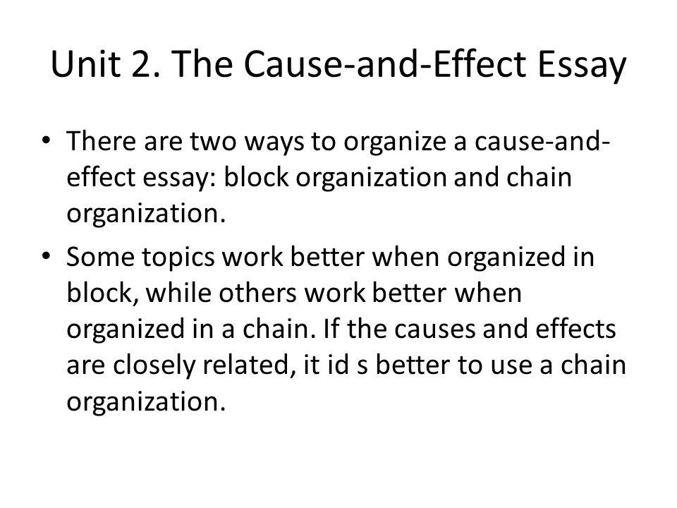 Cause and Effect Essay Topics - EssayEruditecom