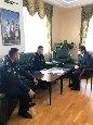 Начальник ИК-35УФСИН России поРеспублике Хакасия провел деловую встречу смэром города Абакана