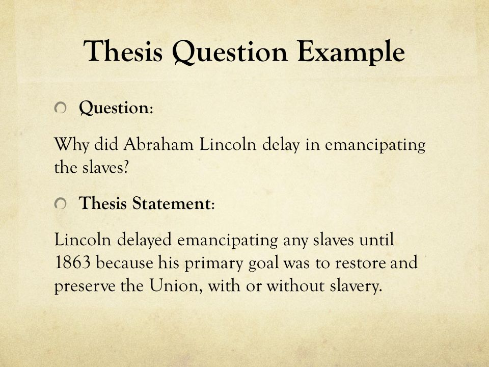 Write my slavery thesis