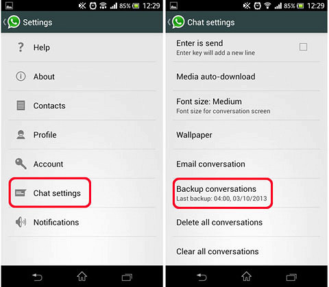 Transfer your WhatsApp messages from iPhone to Android
