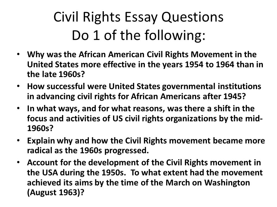 essay questions on civil rights movement gimnazija backa palanka essay questions on civil rights movement