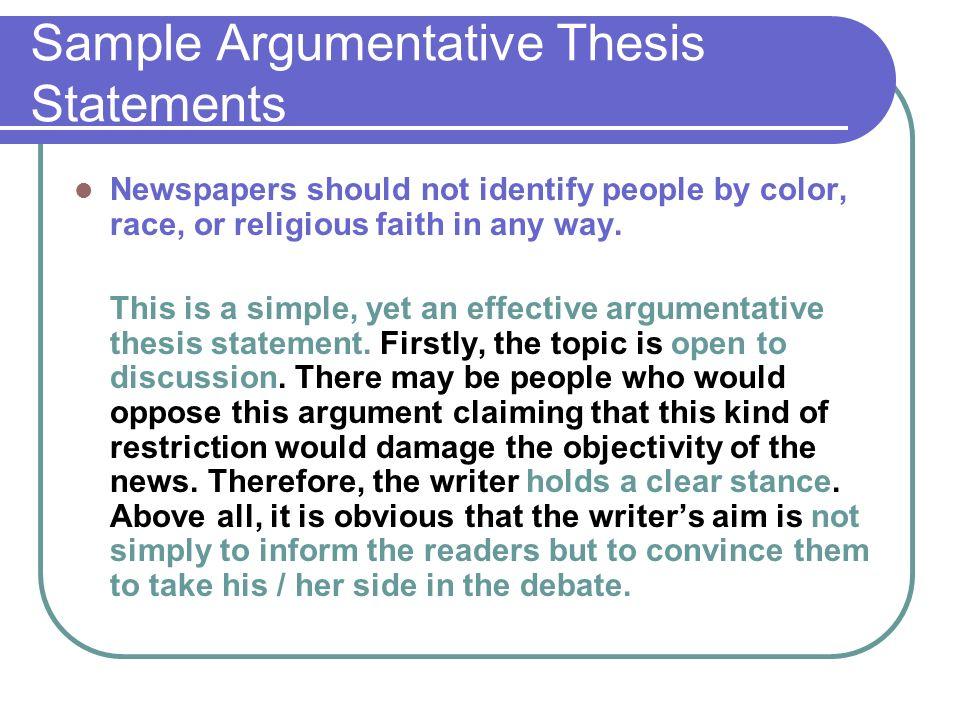 Religion thesis statement