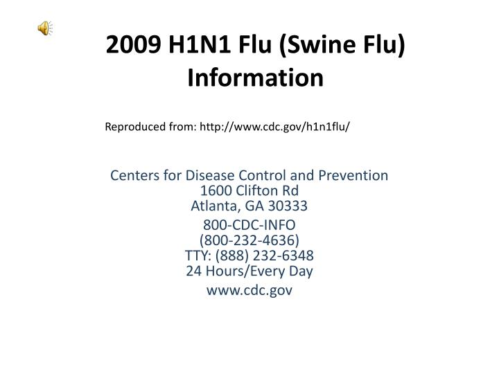 Write my informative speech on swine flu