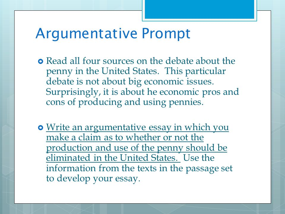 Argumentative issue