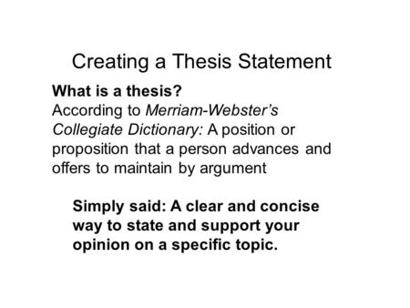 Write my what do thesis mean