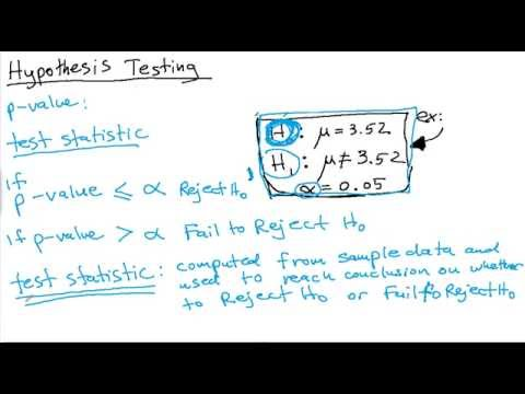 Elementary Statistics for Null and Alternative Hypothesis