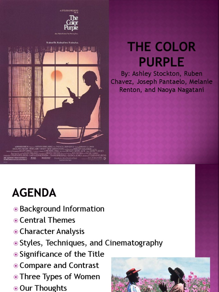 Write my the color purple thesis