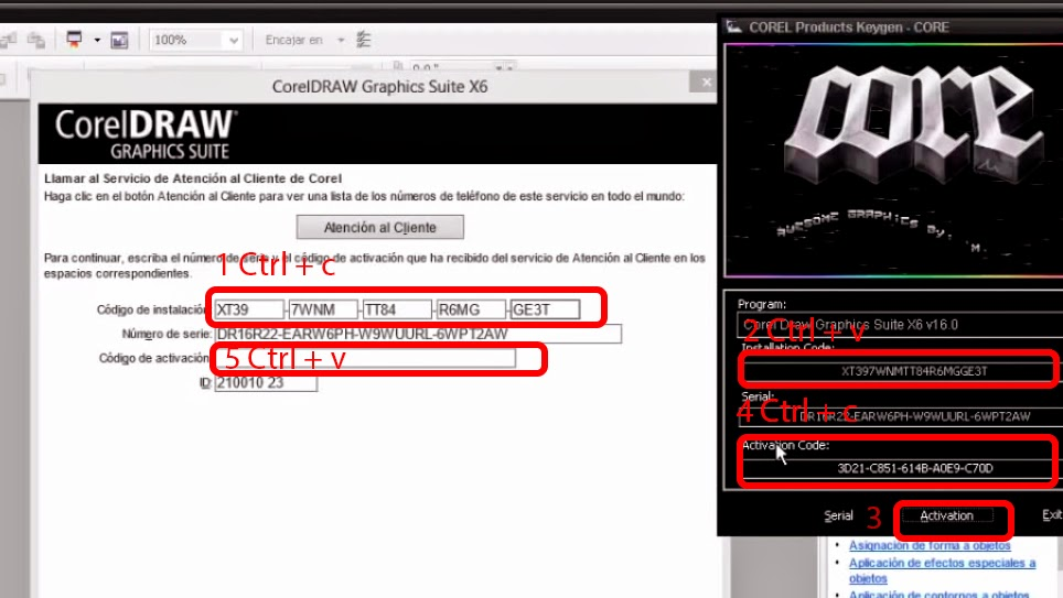 Serial Number Corel Draw X7 Installation and activation