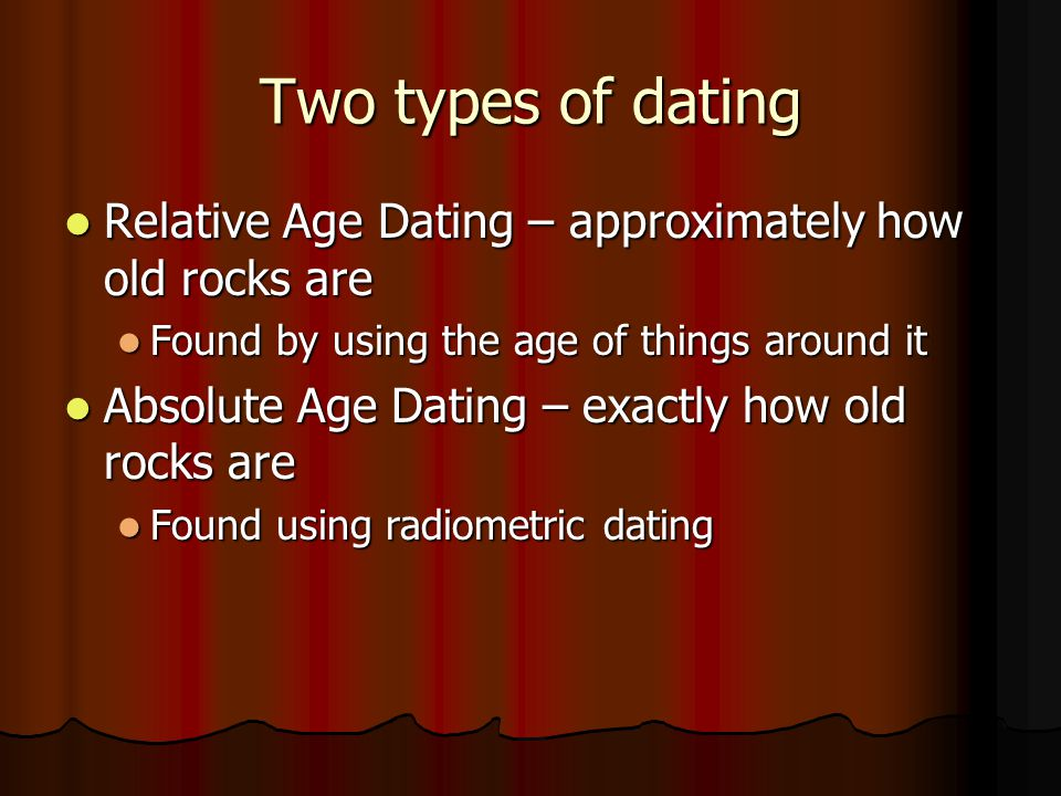 Three types of radiometric dating