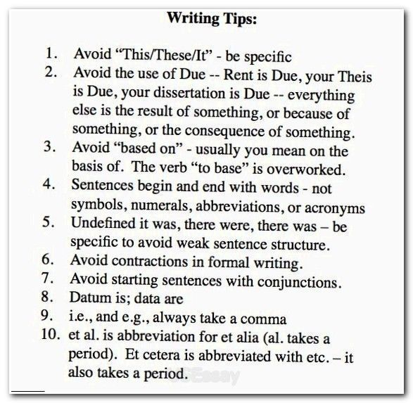 Essay tips for college writing