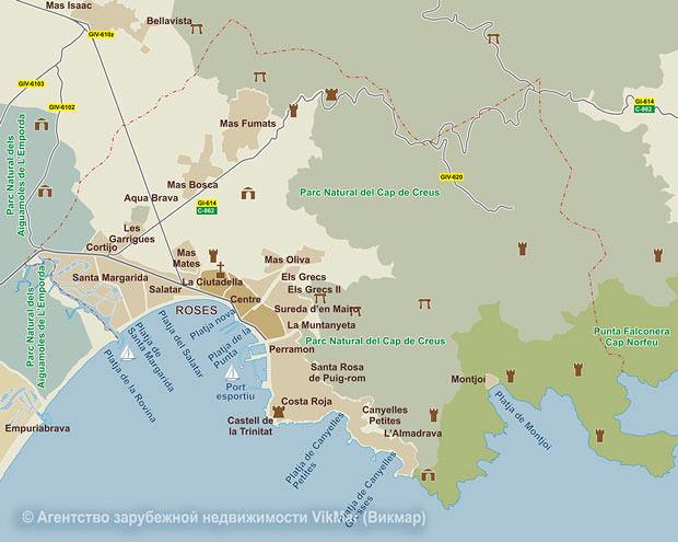 Карта недвижимости испания
