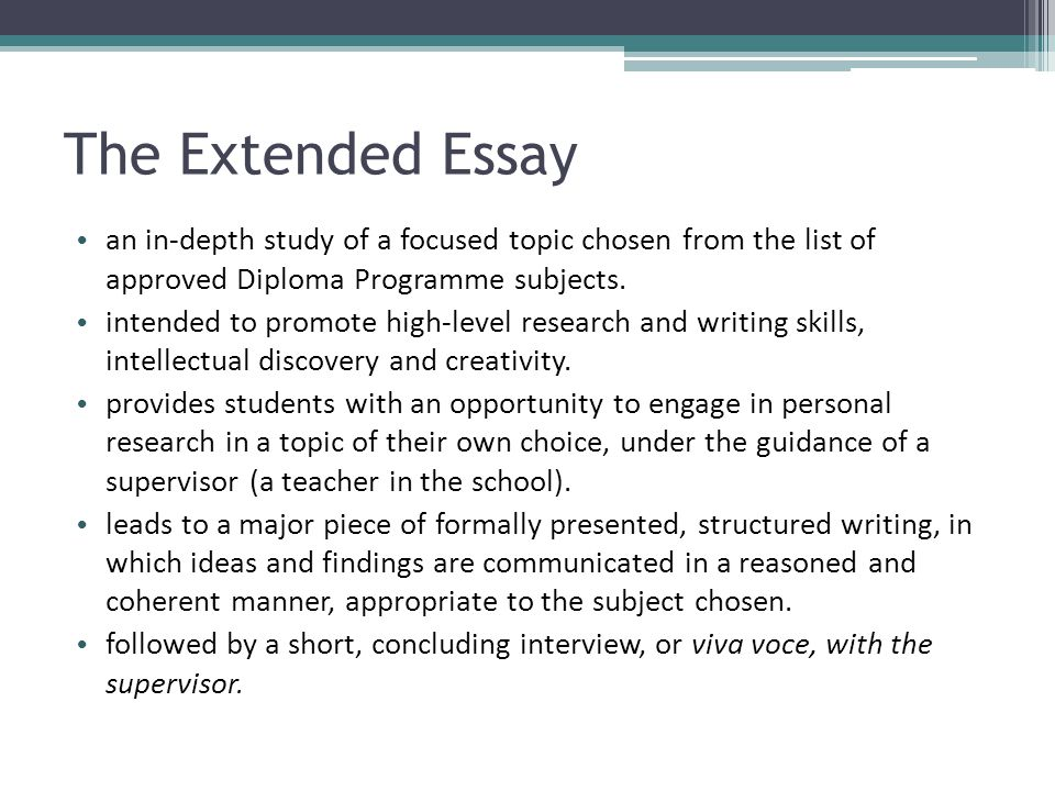 How to Write Your Extended Essay (Getting Started)