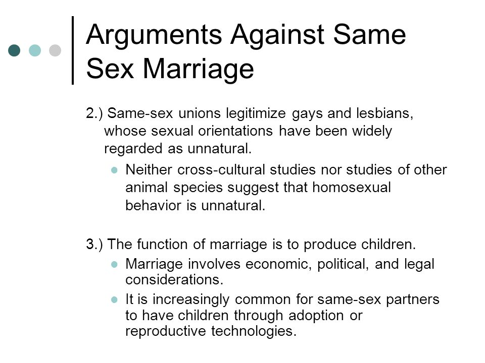 gays against gay marriage essay Gay men and lesbians have done great work on forming relationships outside marriage why stop now.