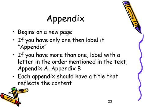 Write my how to make an appendix in a research paper