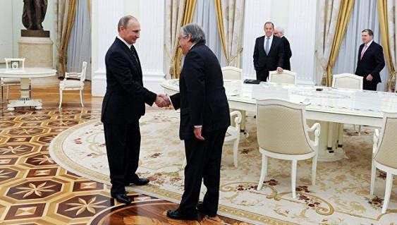 Н. Назарбаев поздравил А. Гутерриша сназначением напост генсека ООН