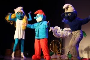 Вкультурном центре района состоялось цирковое представление «Смурфики. Остров сокровищ»