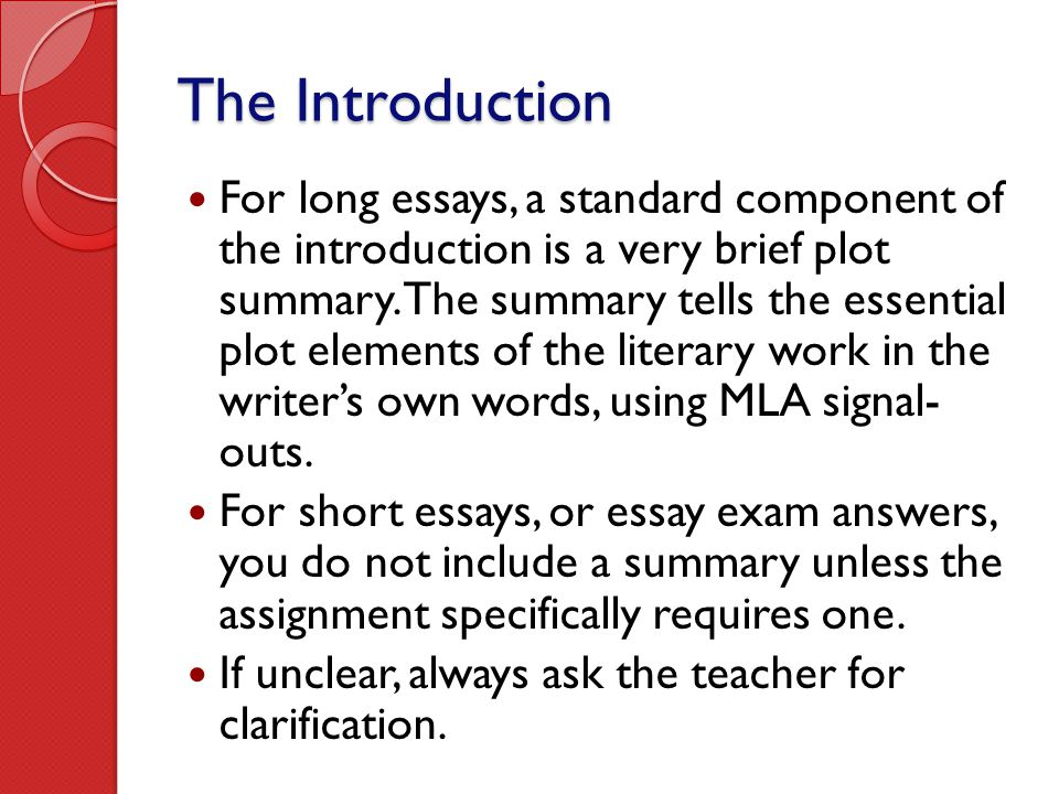 elements of an essay introduction Follow our literary essay writing guide  how to write a literary analysis essay introduction now that you're aware of all elements this essay should include,.