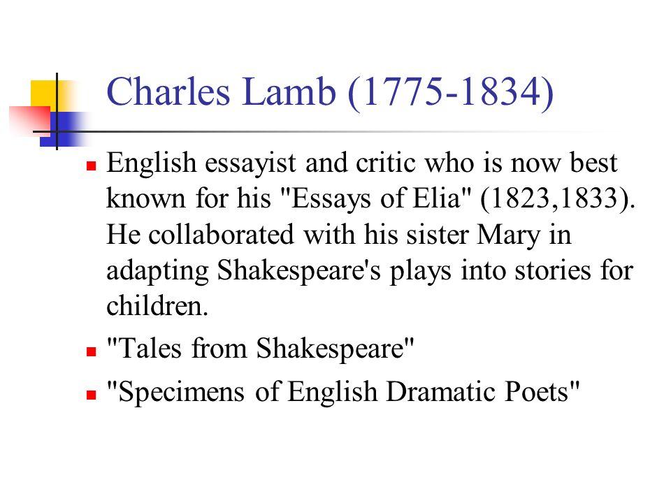 Write my pen name of essayist charles lamb