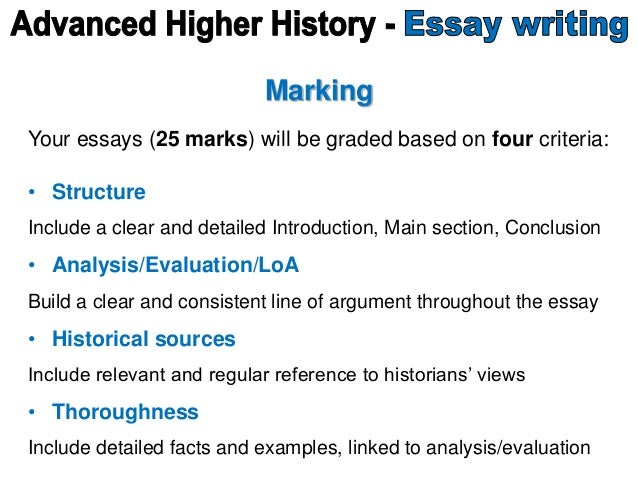 example of history essays