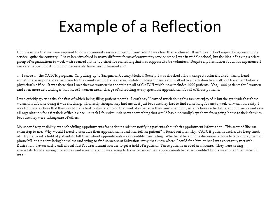 Example Of Reflection Images
