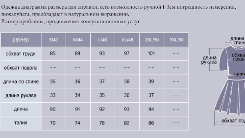 Таблица женских размеров одежды на алиэкспресс для женщин