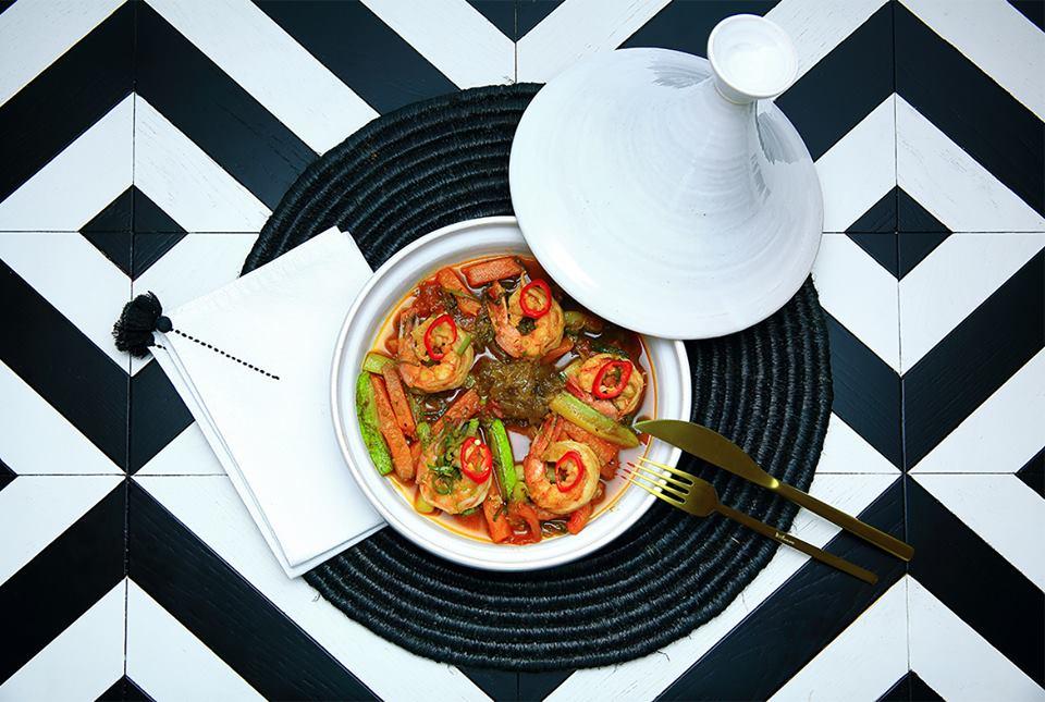 Ресторан Тажин - фотография 3 - Тажин с креветками