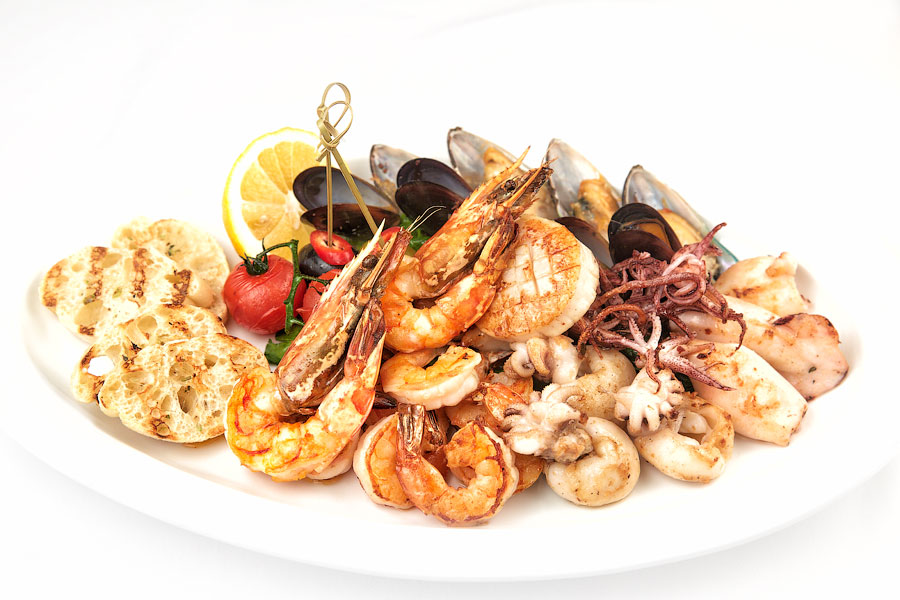 Ресторан Де Марко - фотография 27 - плато из морепрдуктов -блюдо от шеф повара.